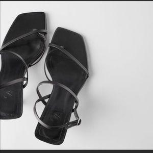 Zara, strappy black sandals